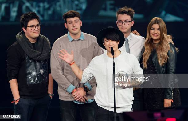 Julien Bam wins the 1Live Krone during the 1Live Krone at Jahrhunderthalle on December 1 2016 in Bochum Germany