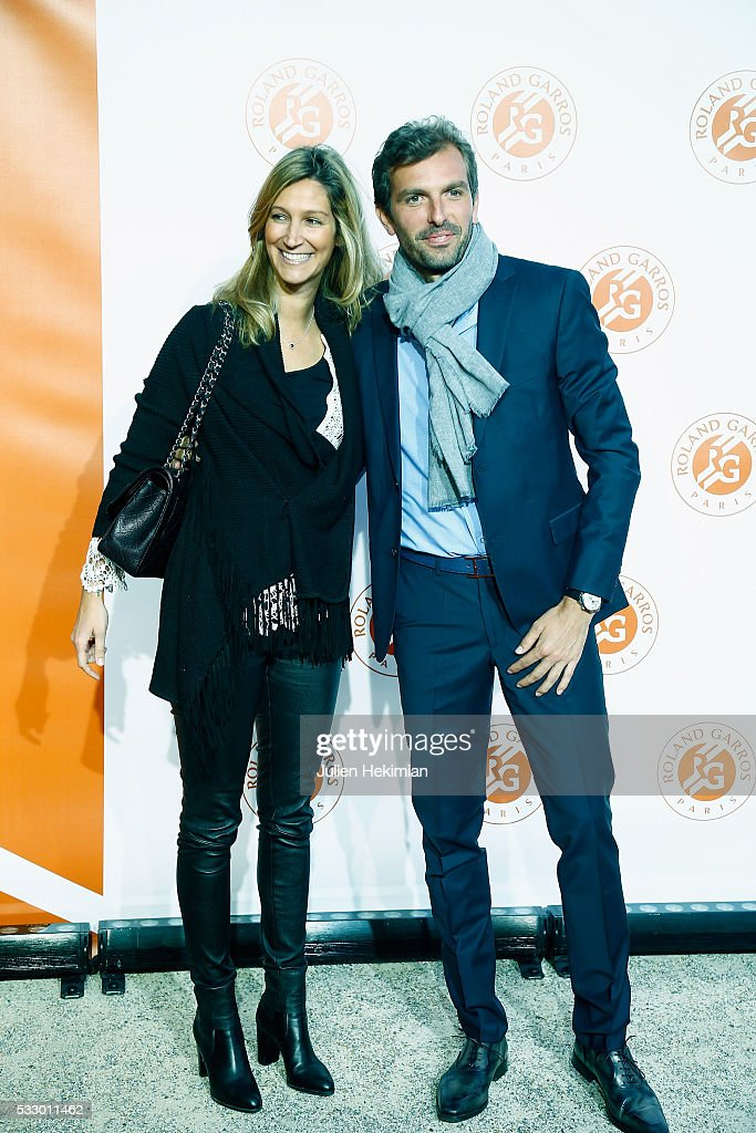 Julien Benneteau and his girlfriend Karen attend the Roland Garros Players' Party at Grand Palais on May 19, 2016 in Paris, France.