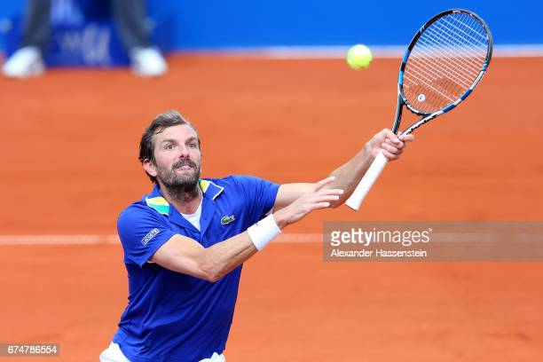 Julien Benneteau of France during his qualification match against CedrikMarcel Stebe of Germany for the 102 BMW Open by FWU at Iphitos tennis club on...