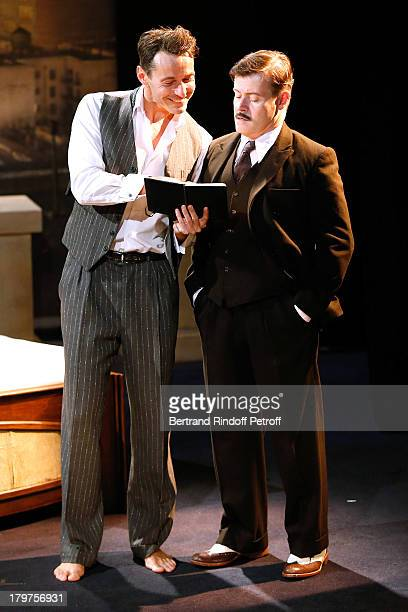 Julien Boisselier and JeanPaul Bordes perform in 'Zelda Scott' RunThrough at La Bruyere Theater In Paris at Theatre La Bruyere on September 3 2013 in...