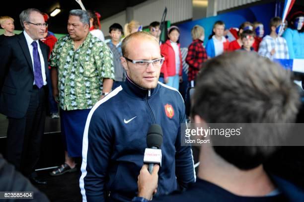 Julien BONNAIRE Arrivee Equipe de France Rugby Coupe du Monde 2011 Auckland