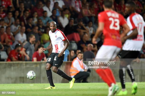 Julien Cetout of Nancy during the Ligue 2 match between Nimes Olympique and As Nancy Lorraine at Stade des Costieres on August 14 2017 in Nimes