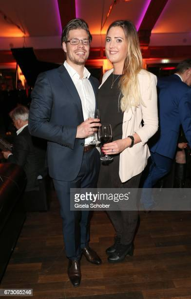 Julien Christopher Fuchsberger grandson of Joachim 'Blacky' Fuchsberger and son of Thomas Fuchsberger and his girlfriend Nathalie Weber during the...