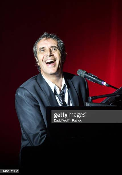 Julien Clerc performs at Palais des Sports on May 31 2012 in Paris France