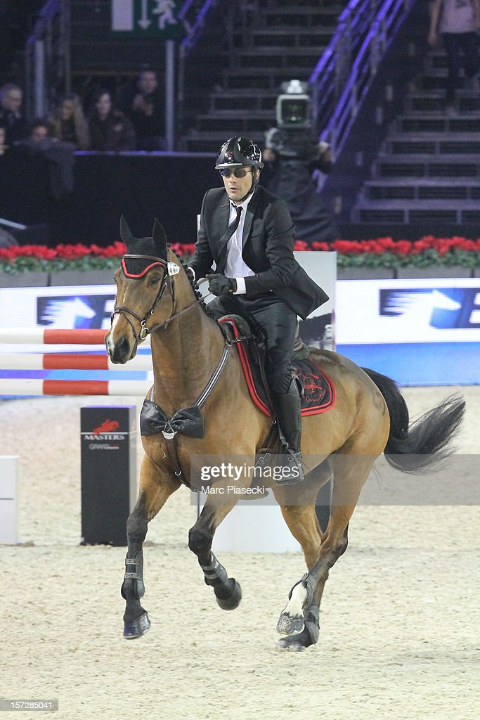 Julien Courbet attends the 'Gucci Paris Masters 2012' at Paris Nord Villepinte on December 1, 2012 in Paris, France.