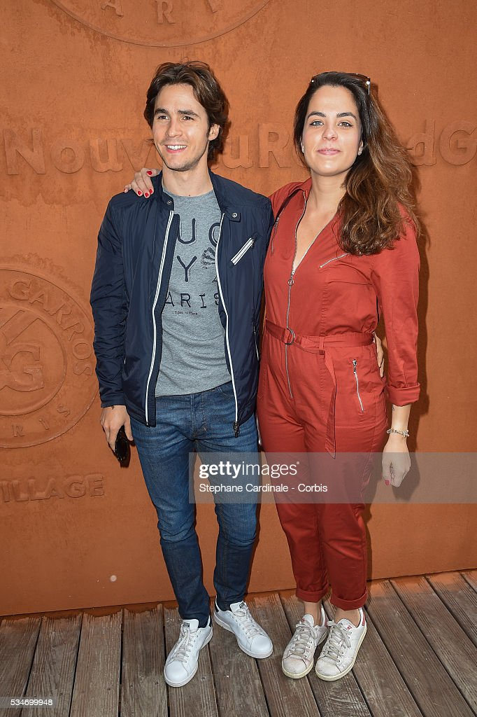 Julien Dereims and <a gi-track='captionPersonalityLinkClicked' href=/galleries/search?phrase=Anouchka+Delon&family=editorial&specificpeople=4383779 ng-click='$event.stopPropagation()'>Anouchka Delon</a> attend day six of the 2016 French Open at Roland Garros on May 27, 2016 in Paris, France.