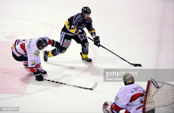 Julien DESROSIERS / Andreas FRISK Hockey sur glace Rouen / Briancon 1/2Finale Coupe de France Photo Dave Winter / Icon Sport