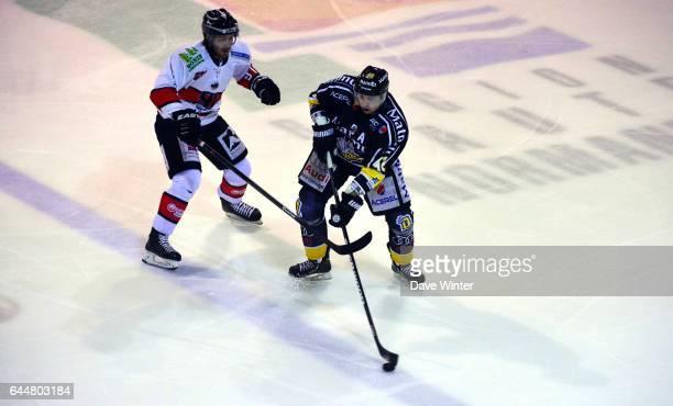 Julien DESROSIERS / Jimmy JENSEN Hockey sur glace Rouen / Briancon 1/2Finale Coupe de France Photo Dave Winter / Icon Sport