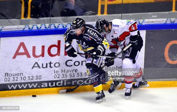 Julien DESROSIERS / Marc Andre BERNIE Hockey sur glace Rouen / Briancon 1/2Finale Coupe de France Photo Dave Winter / Icon Sport