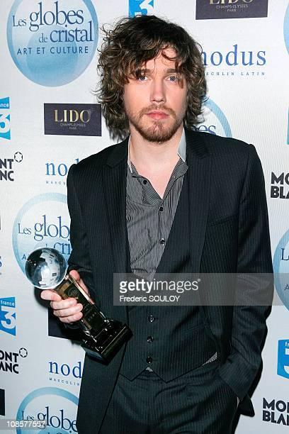 Julien Dore 'Crystal Globe for best male performer' in Paris France on February 02 2009