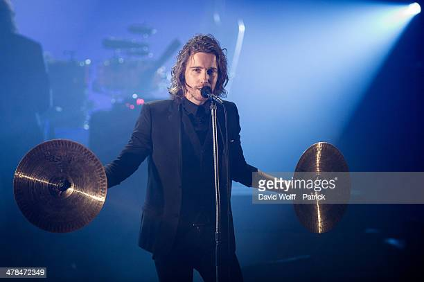 Julien Dore performs at Folies Bergeres on March 13 2014 in Paris France