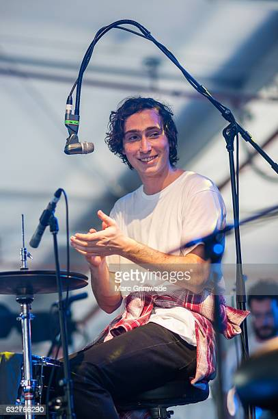 Julien Ehrlich of Whitney performs at St Jerome's Laneway Festival on January 26 2017 in Brisbane