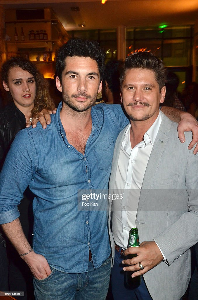 Julien Enthoven and Matthias Van Khache attend the 'Speakeasy' Party At The Lefty Bar Restaurant on May 6, 2013 in Paris, France.