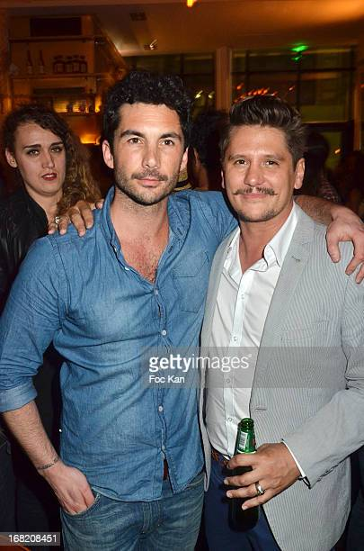 Julien Enthoven and Matthias Van Khache attend the 'Speakeasy' Party At The Lefty Bar Restaurant on May 6 2013 in Paris France