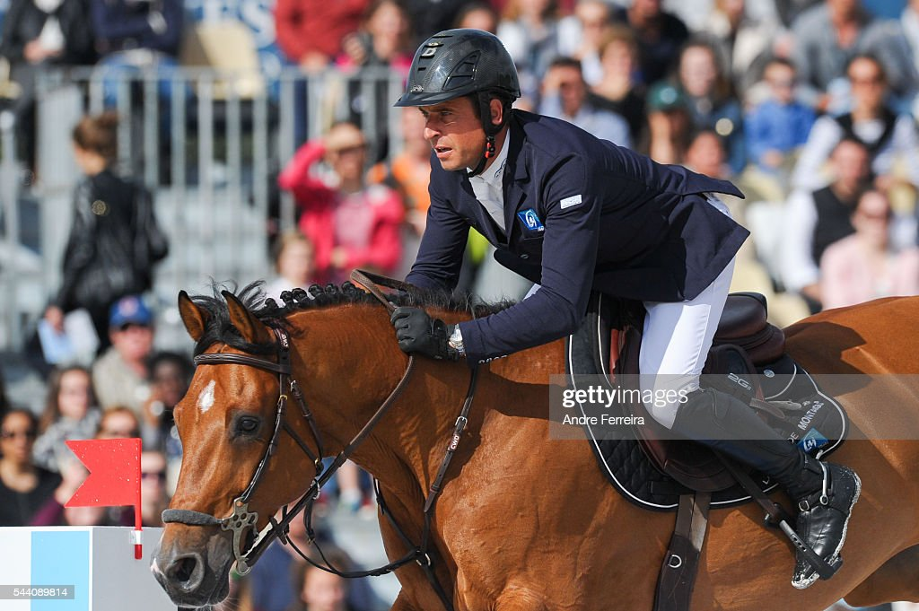 Julien Epaillard and Cristallo A Lm during the Longines Paris Eiffel Jumping on July 1, 2016 in Paris, France.