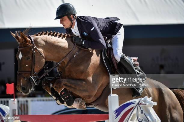 Julien Epaillard of France riding Toupie de la Roque during the Longines Grand Prix Athina Onassis Horse Show on June 3 2017 in St Tropez France
