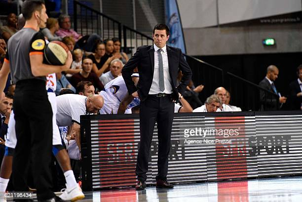 Julien Espinosa coach of Antibes during the Pro A match between Antibes sharks and JDA Dijon on November 4 2016 in Antibes France