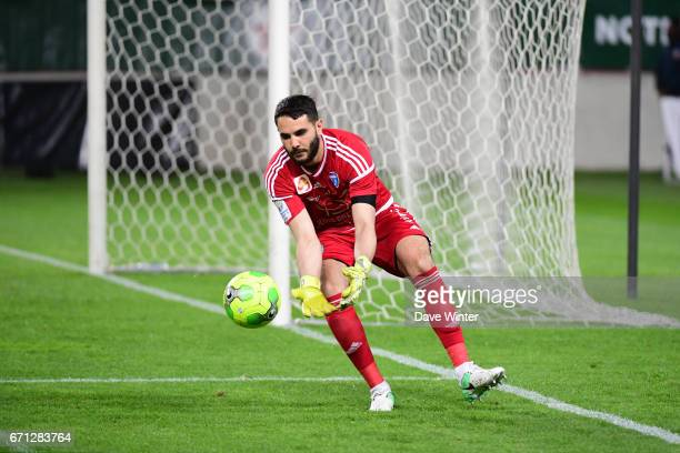 Julien Fabri of FBBP 01 during the Ligue 2 match between Red Star FC and Bourg en Bresse at Stade Jean Bouin on April 21 2017 in Paris France