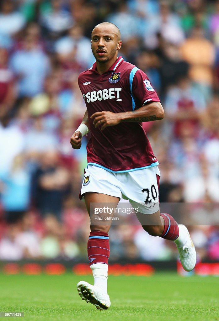 Julien Faubert of West Ham United in action during the Bobby Moore Cup between West Ham United and Napoli at Upton Park on August 8 2009 in London...
