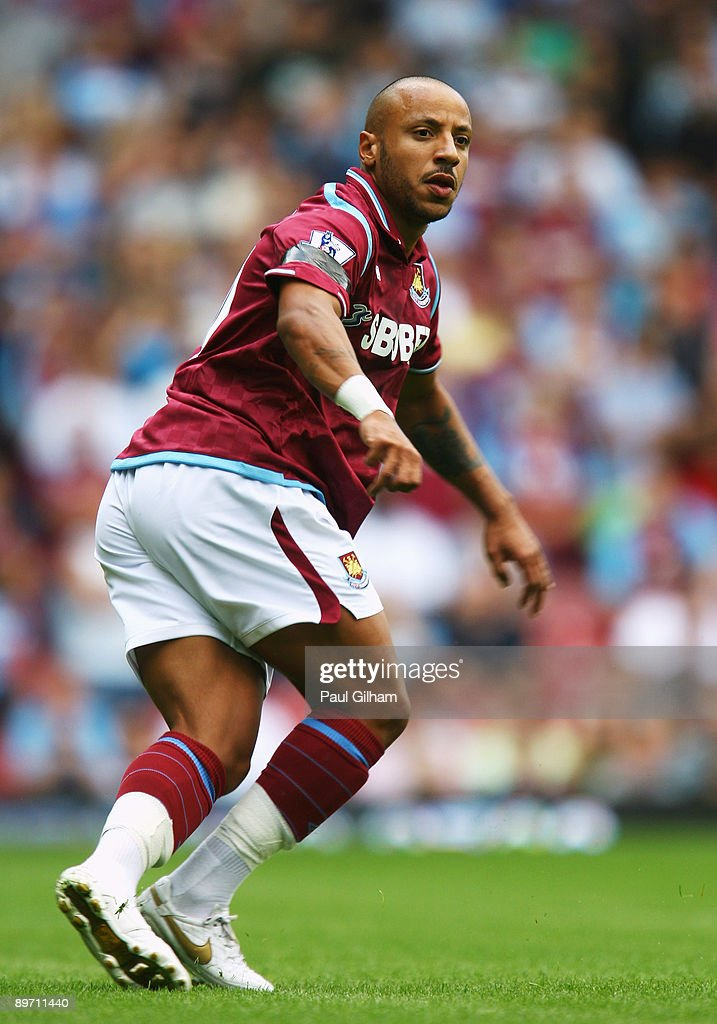 Julien Faubert of West Ham United in action during the Bobby Moore Cup between West Ham United and Napoli at Upton Park on August 8, 2009 in London, England.