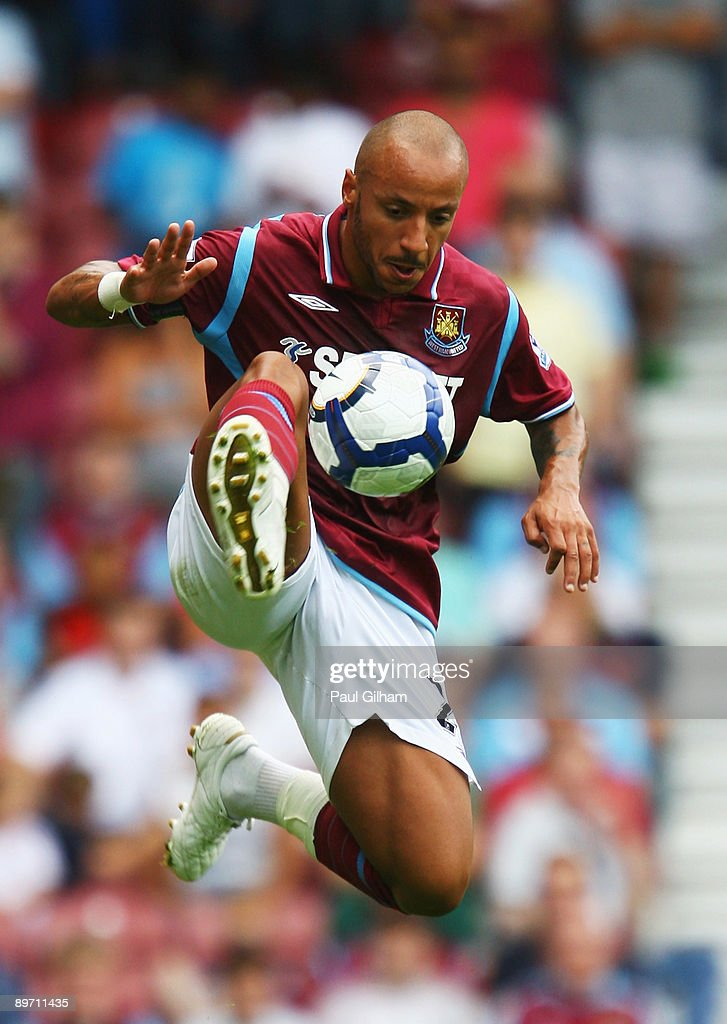 Julien Faubert of West Ham United looks on during the Bobby Moore Cup between West Ham United and Napoli at Upton Park on August 8 2009 in London...