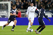 Julien Feret for Stade Malherbe de Caen and Clement Chantome for FC Girondins de Bordeaux during a match of French Ligue 1 between FC Girondins de...