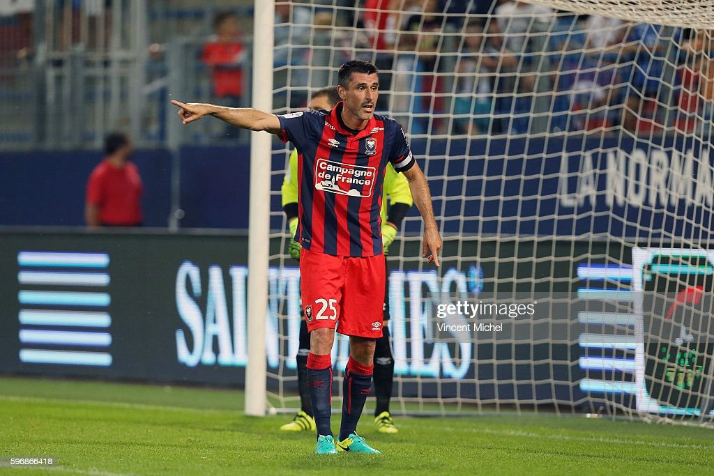 Julien Feret of Caen during the French Ligue 1 match between SM Caen an Bastia at Stade Michel D'Ornano on August 27 2016 in Caen France