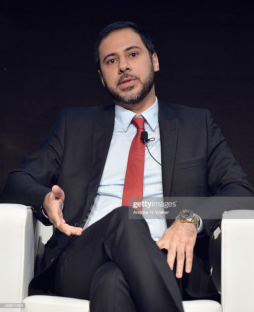 Julien Khabbaz, Head of Investment Banking at FFA Private Bank speaks at the Cinematic Innovation Summit ahead of the 10th Annual Dubai International Film Festival at Atlantis, The Palm Hotel on December 6, 2013 in Dubai, United Arab Emirates.