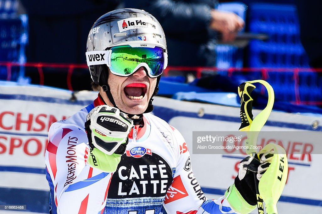 Julien Lizeroux of France competes during the Audi FIS Alpine Ski World Cup Finals Men's Slalom and Women's Giant Slalom on March 20 2016 in St...