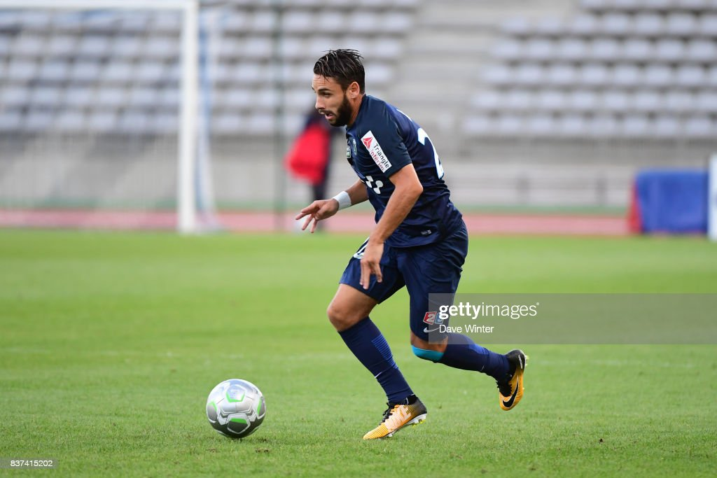 Julien Lopez of Paris FC during the French League Cup match between Paris FC and Clermont Foot at Stade Charlety on August 22, 2017 in Paris, France.