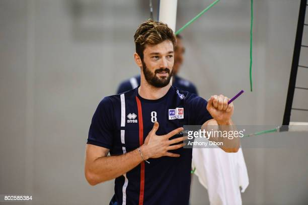 Julien Lyneel of France during a training session of the French volleyball national team on June 28 2017 in Vincennes France