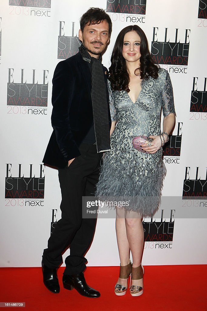 Julien Macdonald and Andrea Riseborough attend the Elle Style Awards on February 11, 2013 in London, England.
