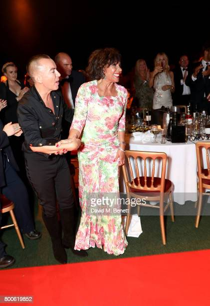 Julien Macdonald and Dame Shirley Bassey attend the Jersey Style Awards 2017 in association with Chopard at The Royal Jersey Showground on June 24...