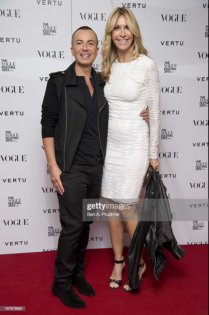 Julien Macdonald and Melissa Odabash attend the opening party for The Vogue Festival in association with Vertu at Southbank Centre on April 27, 2013 in London, England.