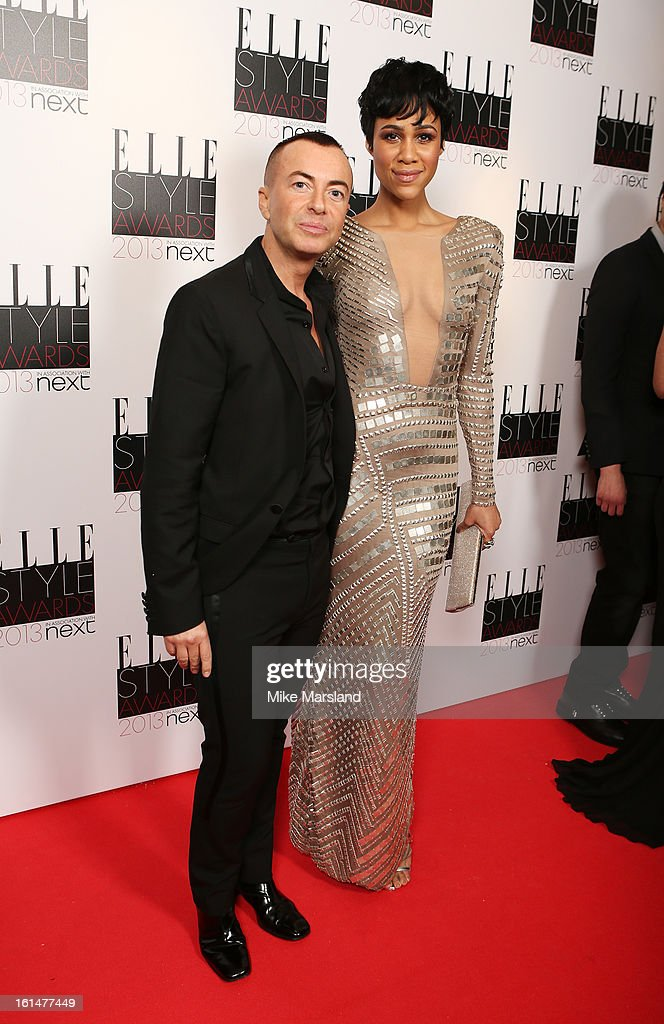 Julien Macdonald and Zawe Ashton attend the Elle Style Awards 2013 at The Savoy Hotel on February 11, 2013 in London, England.