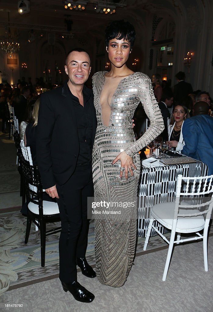 Julien Macdonald and Zawe Ashton attend the Elle Style Awards at The Savoy Hotel on February 11, 2013 in London, England.
