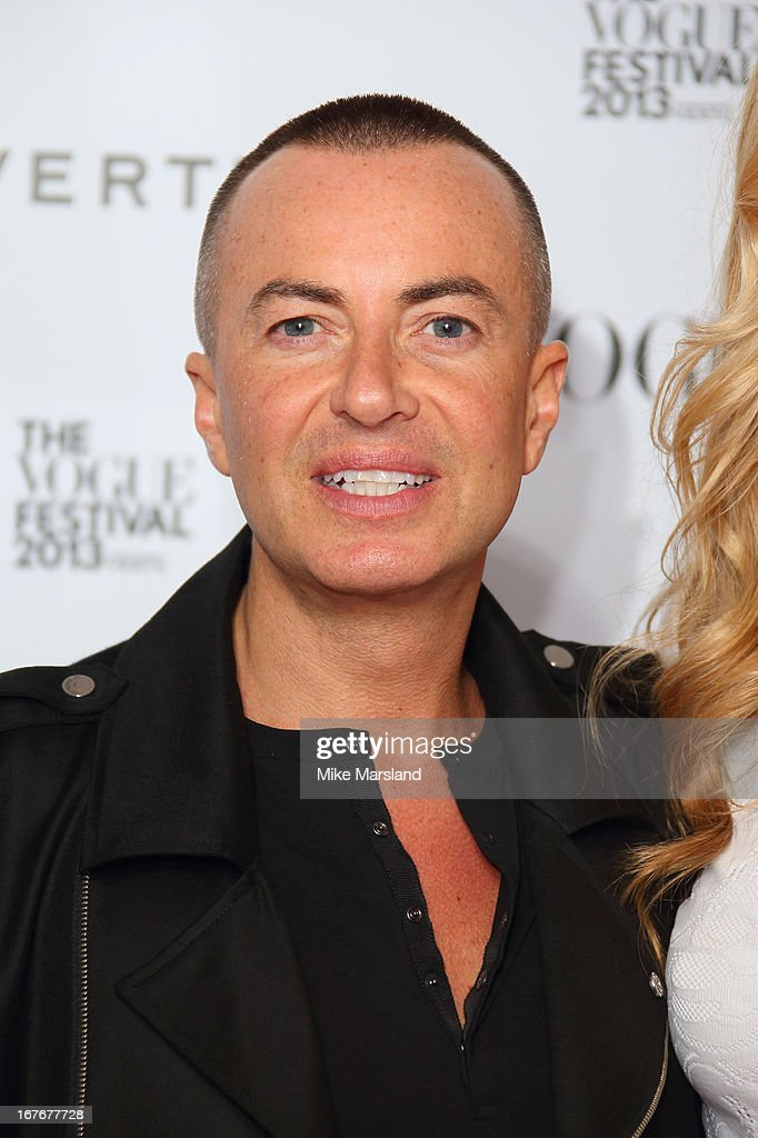 Julien Macdonald attends the opening party for The Vogue Festival in association with Vertu at Southbank Centre on April 27, 2013 in London, England.