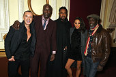 Julien Macdonald Ozwald Boateng Tim Wade Louise Hazel and Michael K Williams attend a special screening of 'Star Wars The Force Awakens' hosted by...