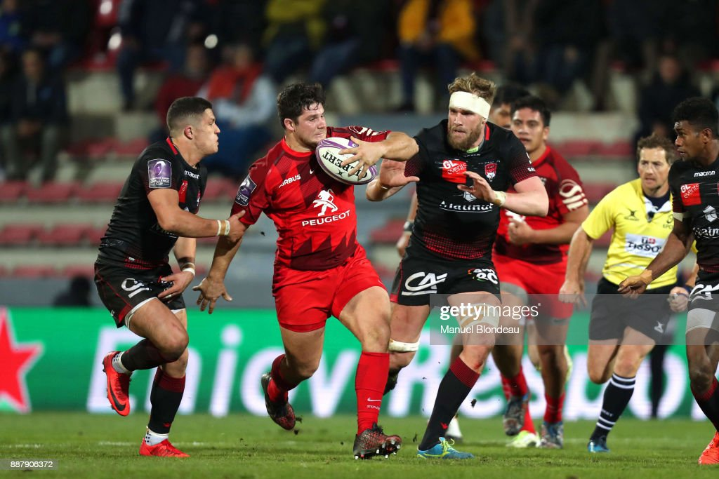 Julien Marchand of Toulouse during the European Challenge Cup match between Toulouse and Lyon on December 7, 2017 in Toulouse, France.