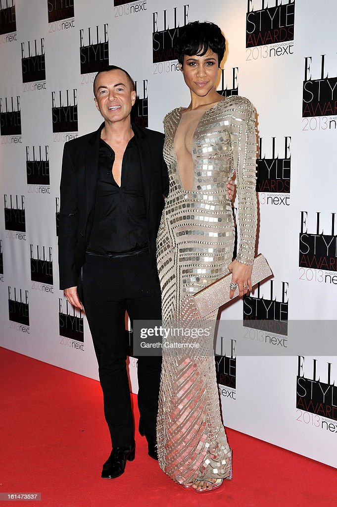 Julien Mcdonald and Zawe Ashton attend the Elle Style Awards at The Savoy Hotel on February 11, 2013 in London, England.