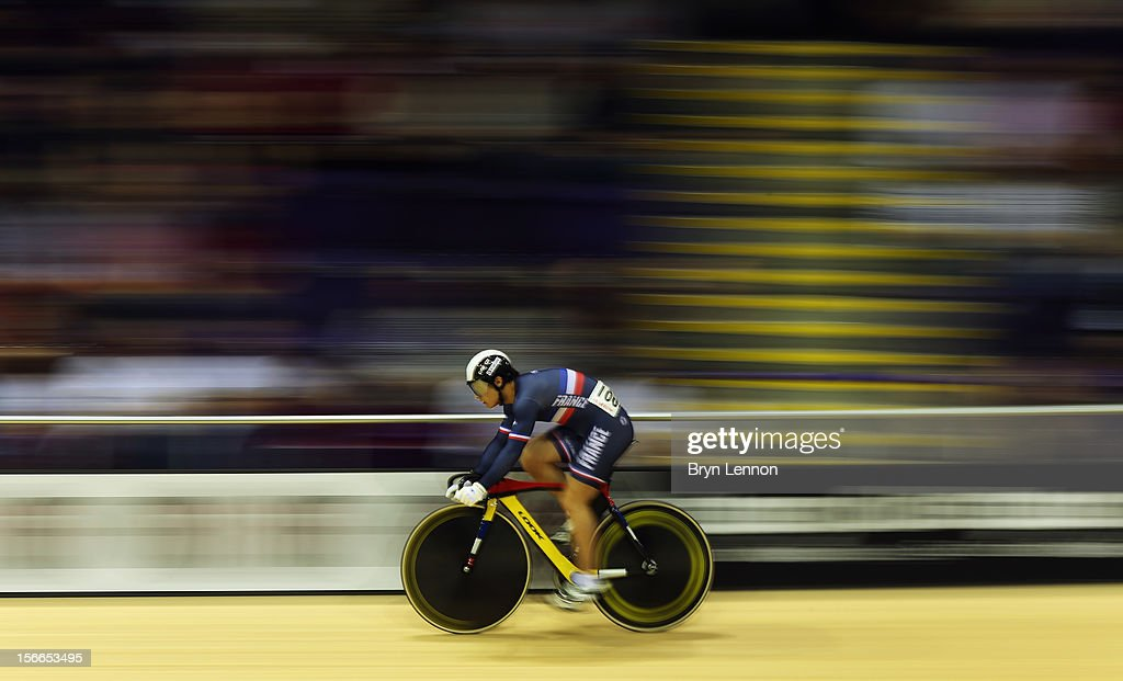 Julien Palma of France in action during qualifying for the Men's Sprint on day three of the UCI Track Cycling World Cup at the Sir Chris Hoy Velodrome on November 18, 2012 in Glasgow, Scotland.