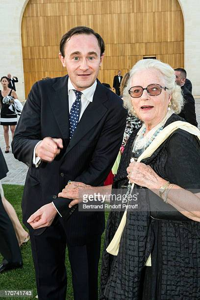 Julien Seyres and guest attend the dinner of Conseil des Grand Crus Classes of 1855 hosted by Chateau Mouton Rothschild on June 16 2013 in Pauillac...
