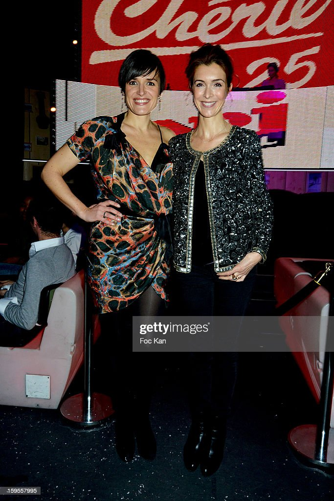 Julienne Bertaux and Veronique Mounier attend the Cherie 25 NRJ Party at VIP Room Theatre on January 15, 2013 in Paris, France.
