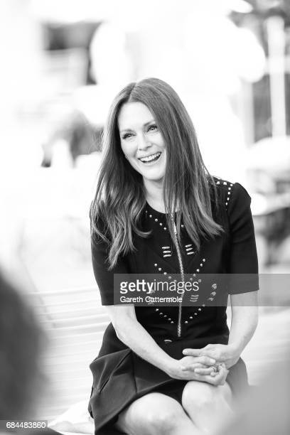 Julienne Moore attends a Cinema Talk at the L'Oreal Paris cinema club during the 70th annual Cannes Film Festival on May 17 2017 in Cannes France