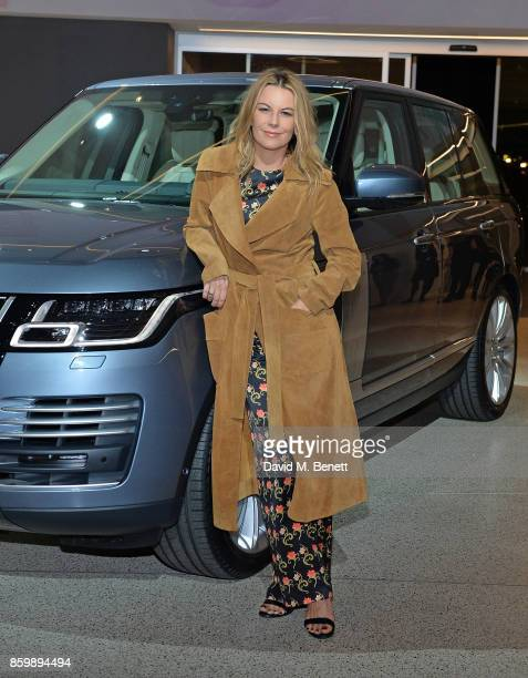 Juliet Angus attends the reveal of the new electrified Range Rover at the London Design Museum on October 10 2017 in London England