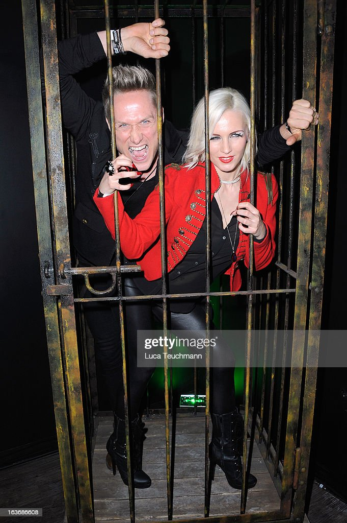 Juliet Diegler and Nico Schwanz attend the opening of the Berlin Dungeon near Hackescher Markt in Berlin on March 14, 2013 in Berlin, Germany.