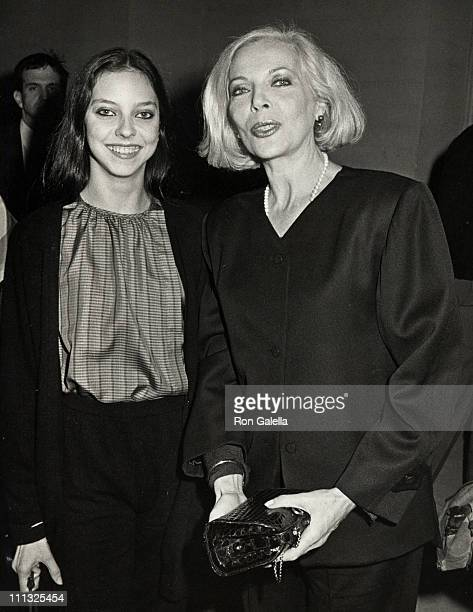Juliet Landau and Barbara Bain during Opening of the American Ballet Theater Gala Party at American Ballet Theater/Beverly Wilshire Hotel in Beverly...