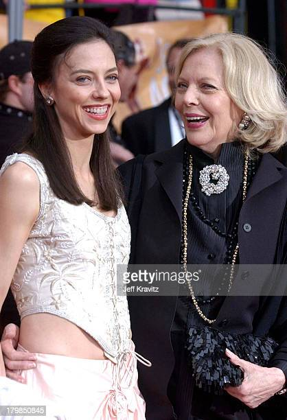 Juliet Landau and Barbara Bain during The 10th Annual Screen Actors Guild Awards Arrivals at The Shrine Auditorium in Los Angeles California United...