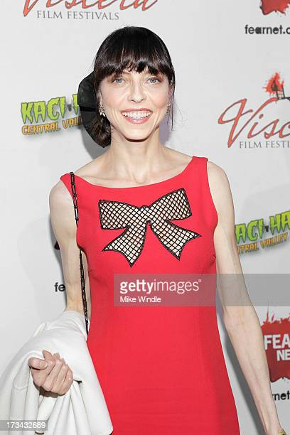 Juliet Landau arrives at the 2013 Viscera Film Festival Red Carpet Event at American Cinematheque's Egyptian Theatre on July 13 2013 in Hollywood...