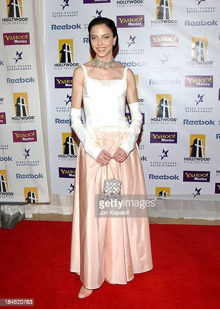 Juliet Landau during The 8th Annual Hollywood Film Festival Hollywood Awards Arrivals at The Beverly Hilton Hotel in Beverly Hills California United...